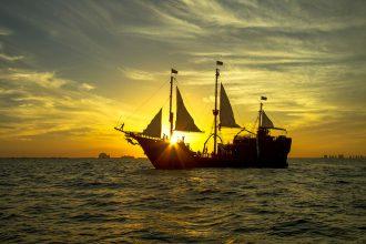 Pirate ship in Cancun
