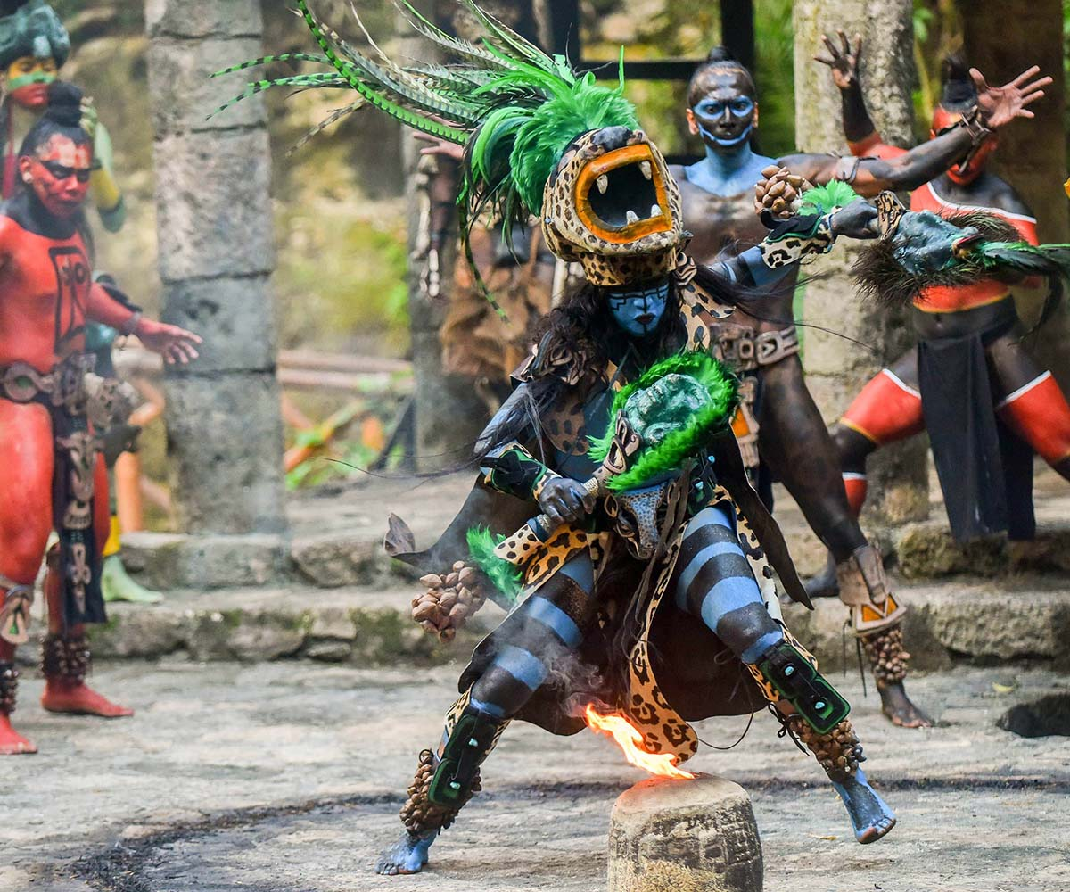 Mayan Village Show in Cancun by xcaret