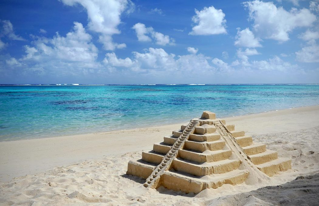 Sandcastles in Cancun, Mexico