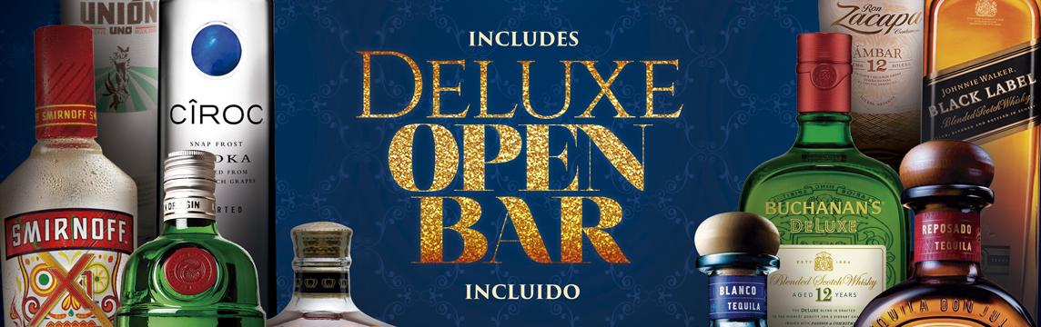 deluxe open bar