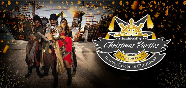 Swashbuckling Christmas Parties Jolly Roger Cancun Pirate Show